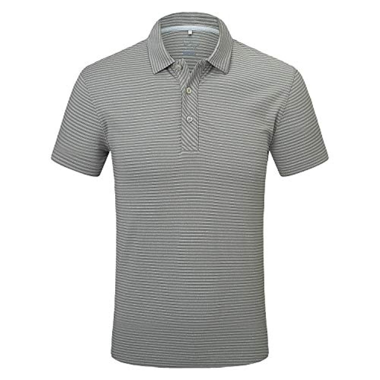 Eagegofメンズシャツ 半袖 テックパフォーマンス ゴルフポロシャツ ルーズフィット