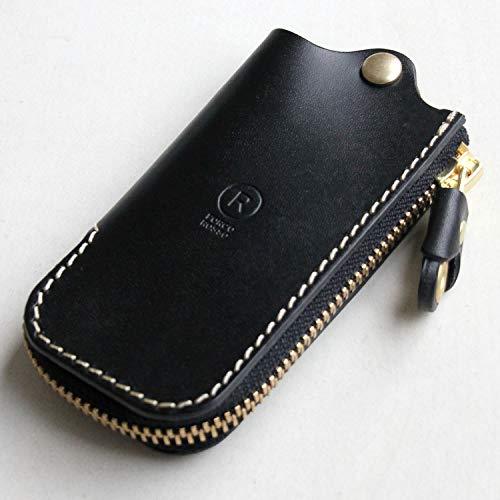 [PORCO ROSSO] ZIP キーケース スマートキーケース 本革 オリジナル栃木レザー 日本製 ブラック