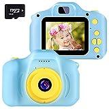 子供用デジタルカメラ 子供用カメラ キッズカメラ おもちや 500万画素 1080P 2.0インチのHDミニスクリーンショックプルーフ機能付き多機能ビデオカメラ 写真動画と連続撮影と自撮りもできる 超軽量の設計&耐衝撃設計 安全な材質 USB充電式 3~12歳の少年少女に最適な贈り物 …(16GBのSDカードが添付します)