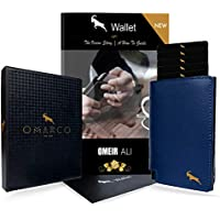 OMARCO® Wallet (with BONUS 2 in 1 E-Book) | RFID Blocking | Pop up Wallet | OPAL Cardholder (Tap and Go) | Fast OPAL Card / Transport Card / Security Card Access | Premium Top Grain Luxury Genuine Leather | Slim Wallet | Aluminium Business Card Holder | Fast Card Access
