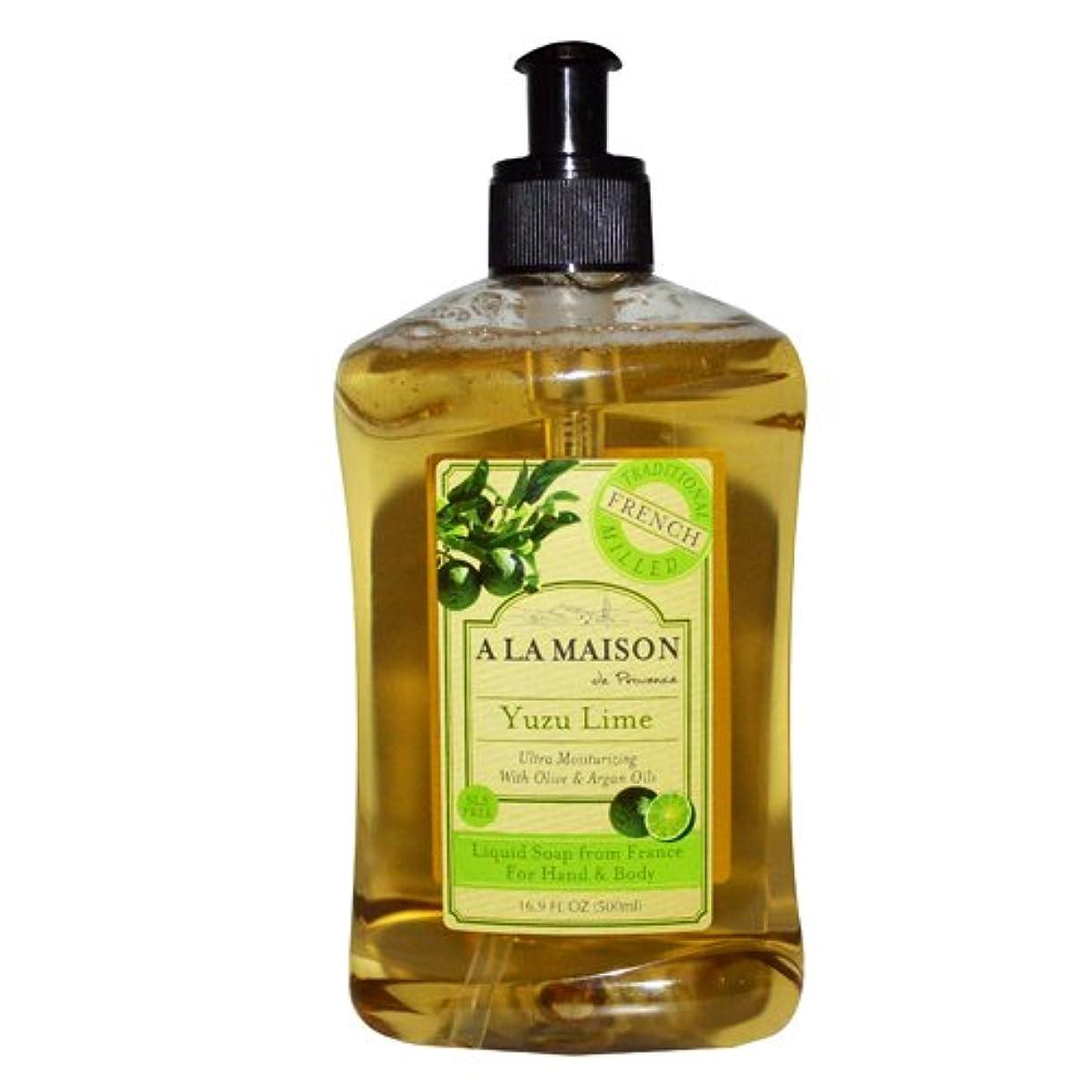 葉巻失敗かごA La Maison de Provence, Hand & Body Liquid Soap, Yuzu Lime, 16.9 fl oz (500 ml)