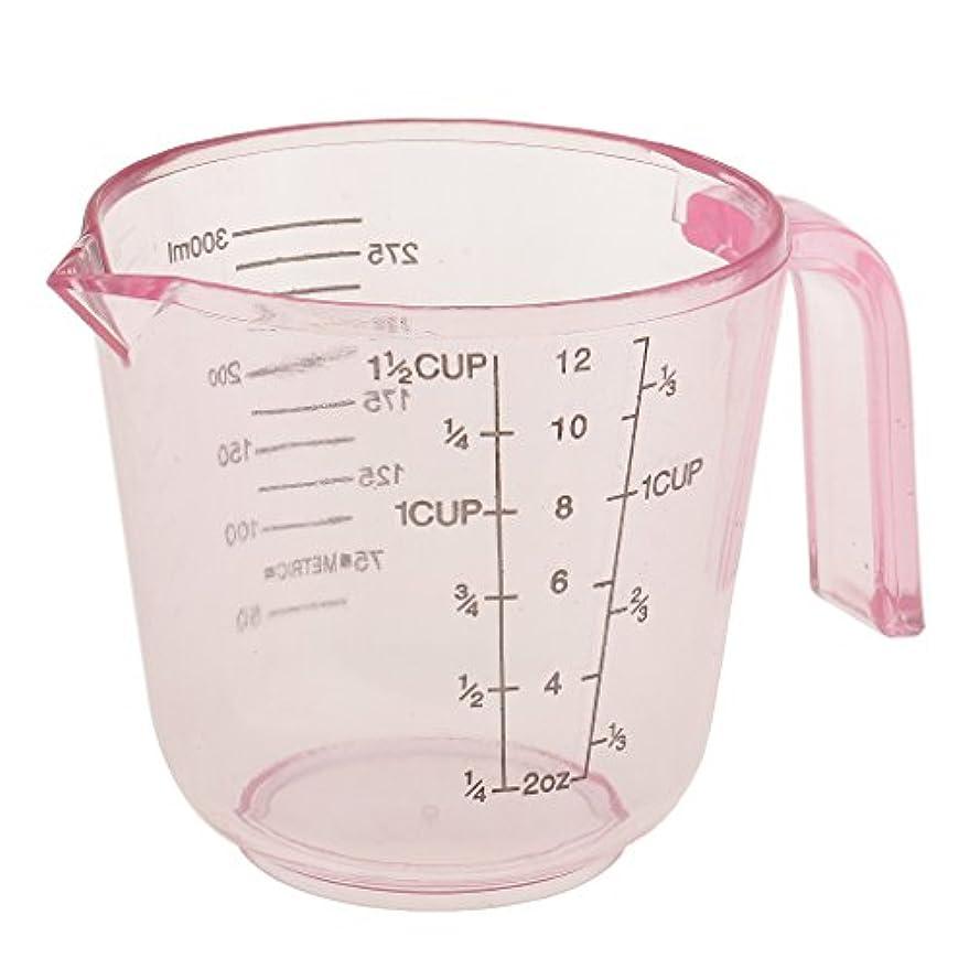 オーストラリア人扇動するペースPerfk 計量カップ 多機能 プラスチック製 サロン ヘアカラー 髪染め 測定用 全3色選べ - ピンク