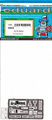 エデュアルド 1/48 スホーイSu-34 内装エッチングパーツ ホビーボス用 プラモデル用パーツ EDU49824