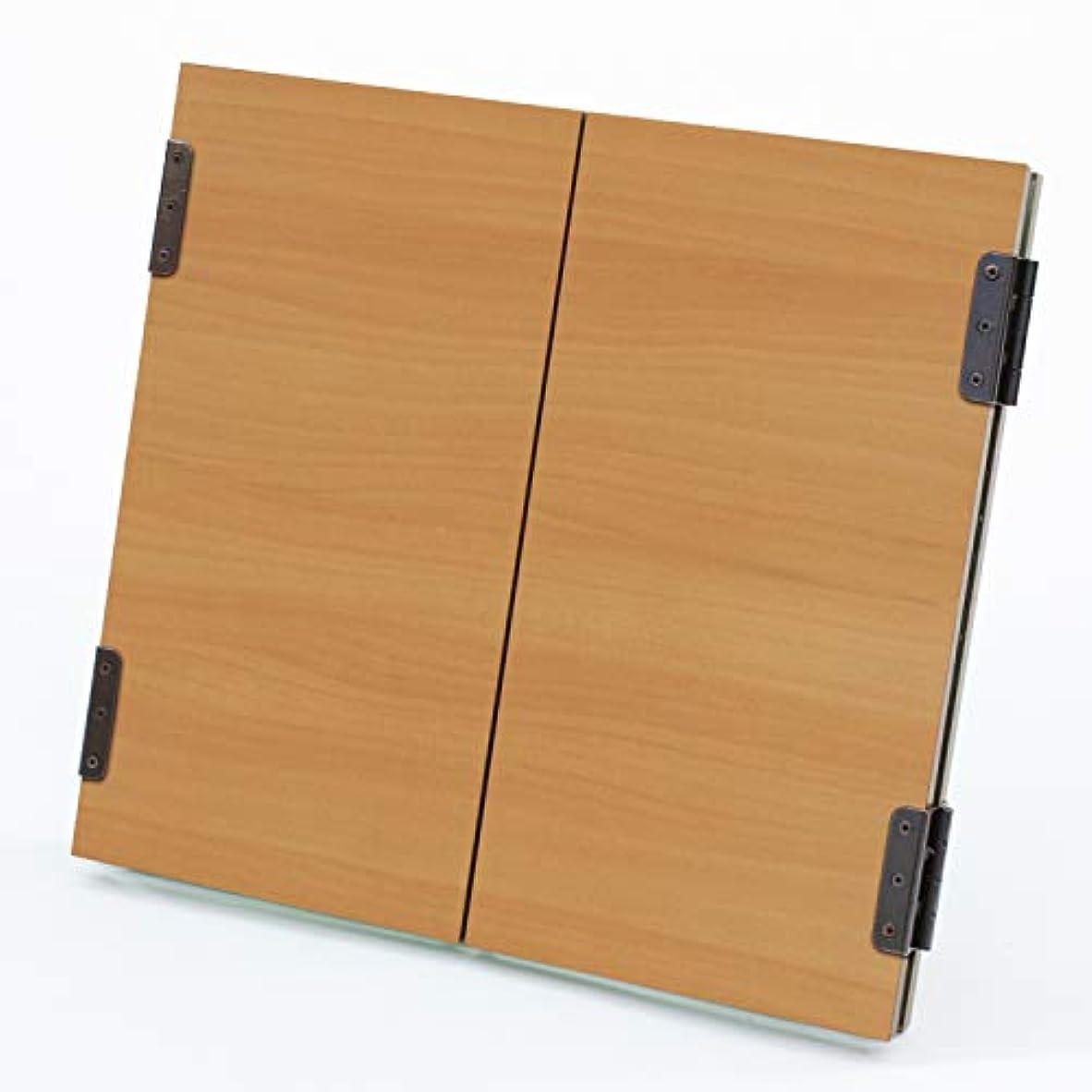 自分めまいが作詞家三面鏡 卓上 木製(アルト)ライト色