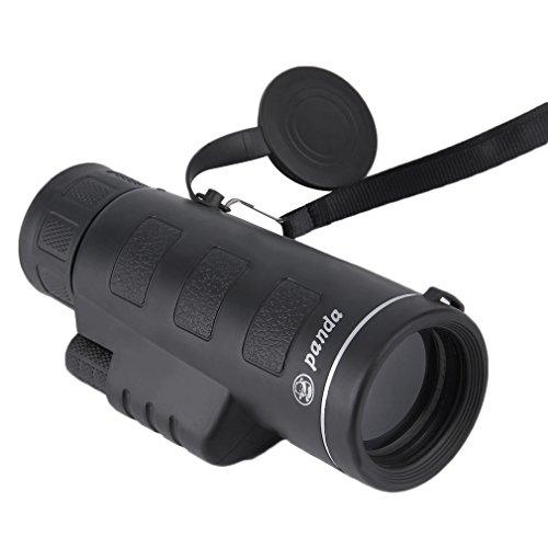 GOMYHOM 単眼鏡 望遠鏡 40倍率 昼夜兼用 スポーツ 観戦 夜景 アウトドア 登山 野鳥観察やライブ用 ポケット望遠鏡 (ブラック)