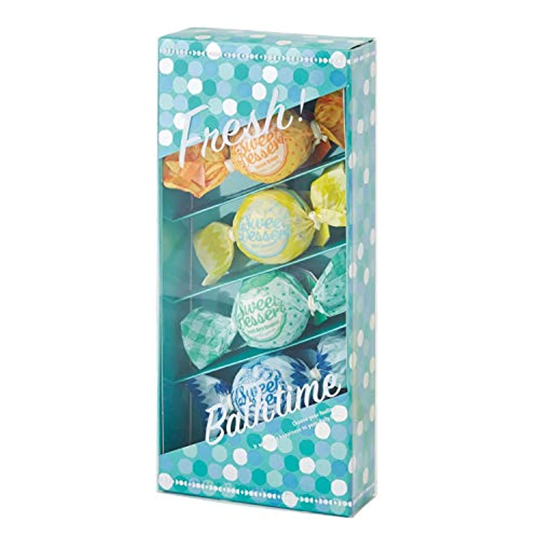 航空便ベーリング海峡帰するアマイワナ バスキャンディー4粒ギフトセット フレッシュ (発泡入浴料 バスギフト)