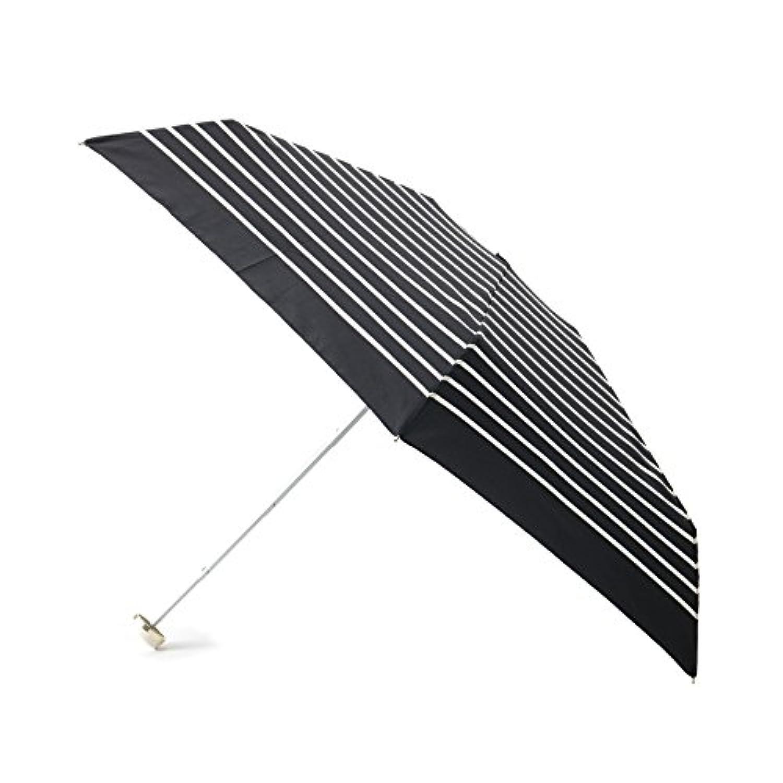 (パサージュ ミニョン) passage mignon 【UVカット80%?晴雨兼用】ハート刺繍ボーダー折り畳み傘 C9561036