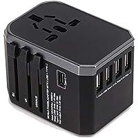 海外 変換プラグ 旅行充電器 - Ridpix 2000W/8A 海外 ACアダプター USB充電器 4つusbポート Type Cポート付き コンセント A・O・BF・Cタイプ 急速充電 変換アダプター マルチ電源プラグ 世界150ヶ以上の国に対応 出張便利 持ち運びやすい(レッド)