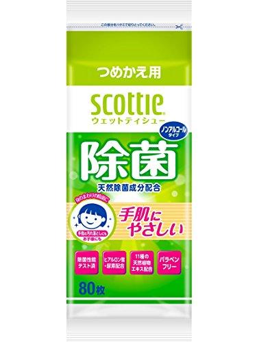 スコッティ ウェットティシュー 除菌 ノンアルコールタイプ ...
