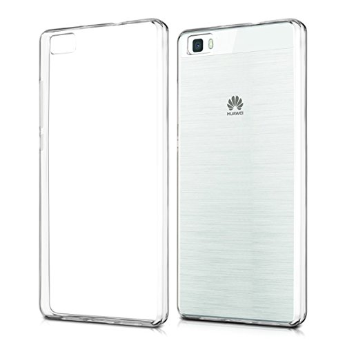 【Qosea】Huawei LUMIERE 503HWケース Huawei P8lite カバー 高品質TPU シリコン ケース 落下防止 防指紋 超薄型、軽量TPU素材 ケース ソフト クリア (Huawei LUMIERE 503HW, 透明)