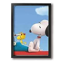 Snoopy フレーム装飾画 絵画 A4絵 キャンバスアート アートパネル モダンアート 壁飾り ポスター 壁掛け 壁画 背景 枠付き 木製 ファッション