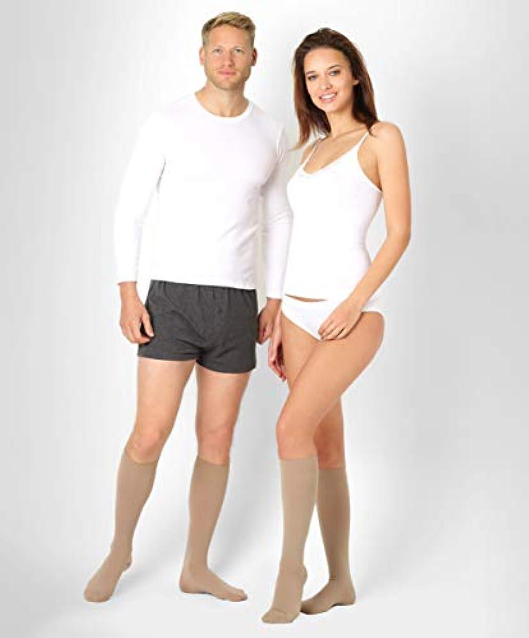 光沢トリッキーパスポートBeFit24医療用着圧ソックスクラス2 (23-32 mmHg) 男性?女性用 ー あらゆるライフスタイルのニーズに対応ヨーロッパ製 Small Beige 2rost