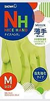ショーワグローブ【指先強化タイプ】ナイスハンド ミュー 薄手 Mサイズ グリーン 1双