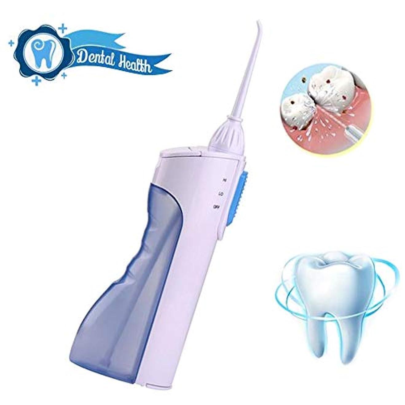 下着塩辛い確かめる歯のための水フロッサー、165mlタンクと2つのジェット機の先端が付いている携帯用専門のコードレス歯科口頭潅漑器、2つのクリーニングモード