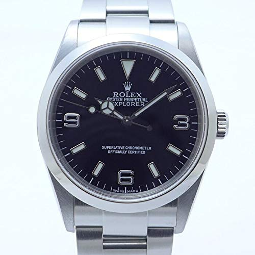 【中古】ロレックス エクスプローラーⅠ Ref.114270 Y番 メンズ腕時計 SS AT(自動巻き) ブラック文字盤