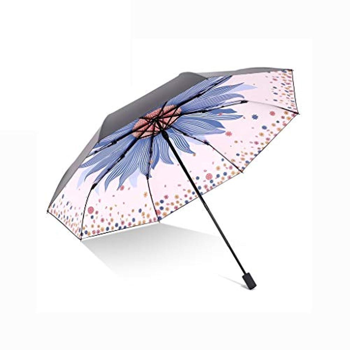 キュービック死ぬ誤解日傘、自動開閉開閉トラベル傘強化換気と防風フレームポータブルコンパクト折りたたみ式軽量設計と高風抵抗(ブルー) (Color : Purple, Size : L)