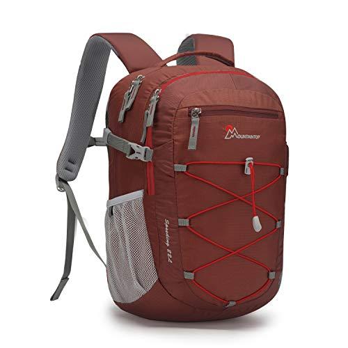 マウンテントップ(Mountaintop) バックパック 22L リュックサック 小型 登山 リュック デイバック アウトドア 旅行 ザック 軽量 収納性抜群(ナツメ赤)