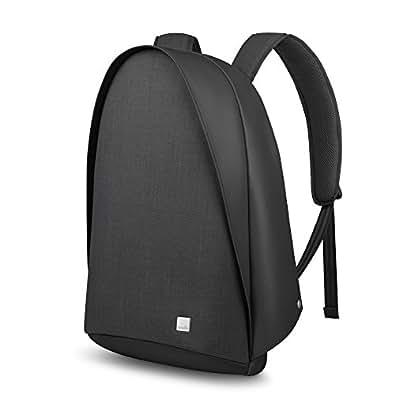 moshi Tego Backpack (Charcoal Black) 防犯性 防刃性 RFID保護ポケット搭載 バックパック 光反射素材使用 USBポート付き 15inchノートPC収納可能
