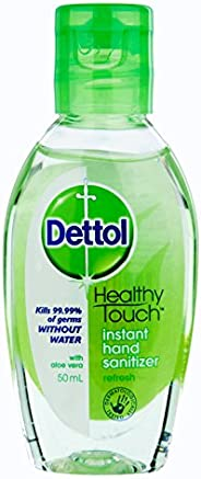 Dettol Instant Liquid Hand Sanitizer Refresh Anti-Bacterial, 50 milliliters