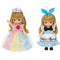 リカちゃん ドレス LW-22 ミキちゃんマキちゃんドレスセット にじいろプリンセス&メルヘンワンピ