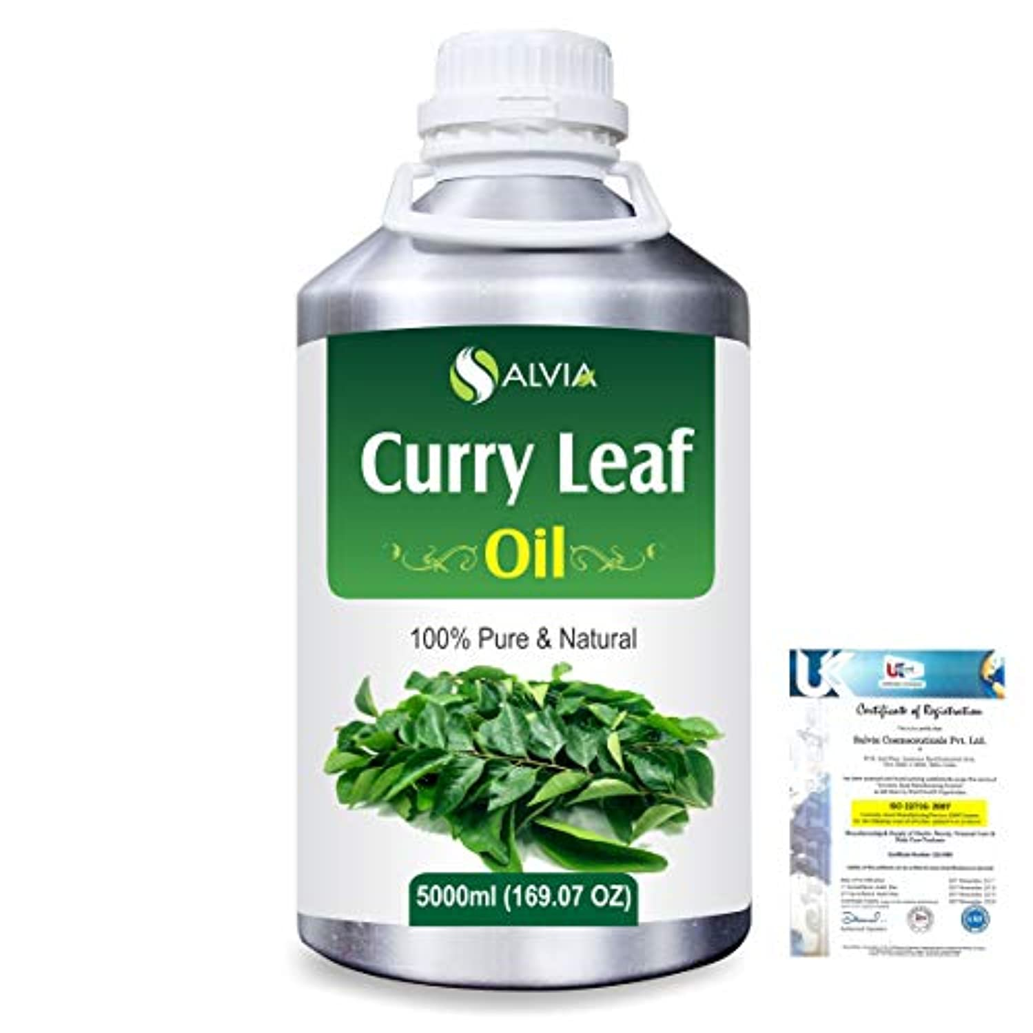 プラス精神耐久Curry Leaf (Murraya koenigz) 100% Natural Pure Essential Oil 5000ml/169fl.oz.