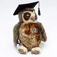 Kuscheltiere.biz教授フクロウMAGNUSイーグルフクロウ卒業博士度25 cm回転可能なぬいぐるみ