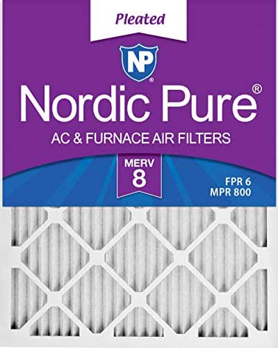 Nordic Pure 14x22x1 Exact MERV 12 Pleated AC Furnace Air Filters 3 Pack