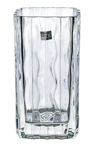 アデリア ガラス 花器 クリア 幅9.2×奥9.2×高17.2cm ルアール 日本製 P-6496