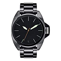 Nixon Men 's Anthem ' Swiss QuartzステンレススチールWatch, Color :グレー(モデル: a3961418 )