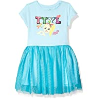 JoJo Siwa Girls J6SS204-9S68 TTYL Emoji Tutu Dress with Tulle Skirt Short Sleeve Casual Dress - Blue