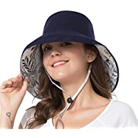 iHomey Women Wide Brim Sun Hats Foldable UPF 50+ Sun Protective Bucket Hat