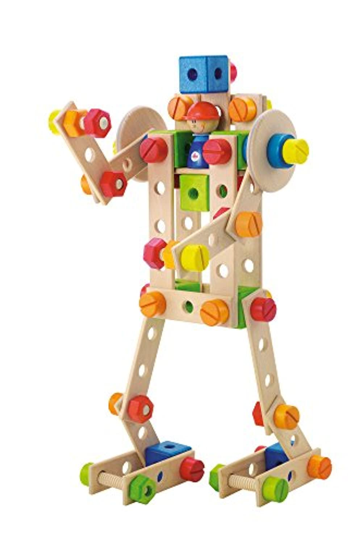 Sevi(セヴィ) 木製組み立てキット88(ロボット)/Construction Kit Robot 82410 【日本正規品】 輸入食品検査済品