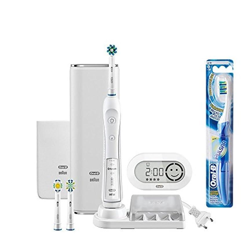 息子ダーベビルのテスノーブルブラウン オーラルB 電動歯ブラシ プラチナホワイト 7000 D365356WHP スマホアプリ連動 ホワイト