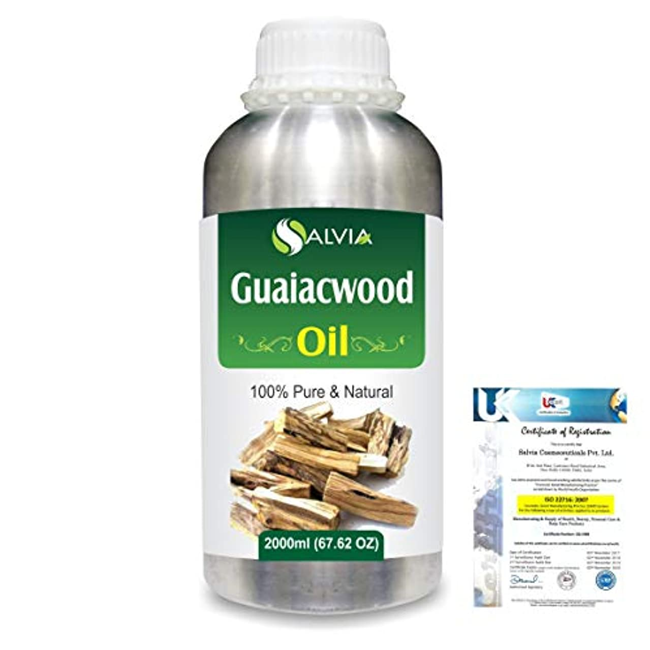 進化不適切な切手Guaiacwood (Bulnesia sarmientoi) 100% Pure Natural Essential Oil 2000ml/67 fl.oz.
