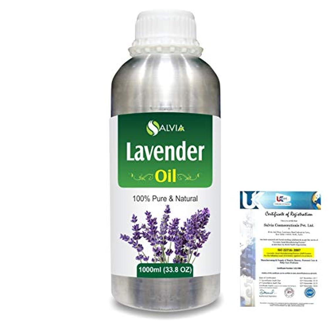 アンプ乳白影響力のあるLavender (Lavandula officinalis) 100% Natural Pure Essential Oil 1000ml/33.8fl.oz.