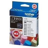 (まとめ) ブラザー BROTHER インクカートリッジ 黒 LC111BK 1個 【×4セット】 〈簡易梱包