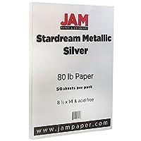 "Jam用紙メタリック法的用紙–8.5"" X 14""–80lbシルバーStardreamメタリック–50/パック"