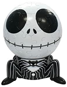 3D球体パズル ディズニー 60ラージピース ジャック・スケリントン (直径約10.2cm)