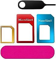 sim アダプタ、RedCloud sim変換アダプター nanoSIM/microSIM変換 SIMピンとSIMカードフォルダ付き 5点セット(2セット)