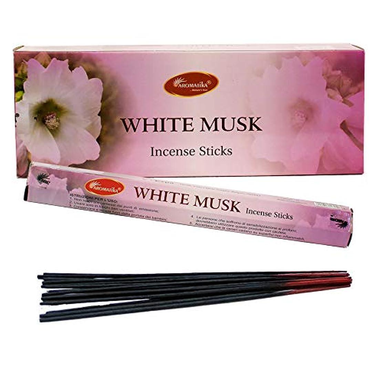 配当くぼみ観客aromatikaホワイトムスク香水Incense Sticks ( Hexa )