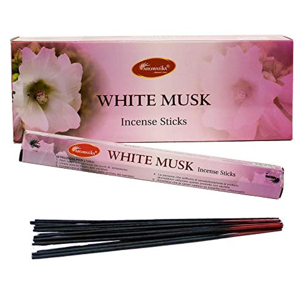 早熟移住する任意aromatikaホワイトムスク香水Incense Sticks ( Hexa )