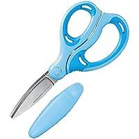 コクヨ はさみ ハサミ こども エアロフィットサクサ グルーレス刃 右手用 青 ハサ-P270B