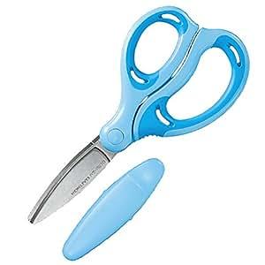 コクヨ 学習 はさみ エアロフィットサクサ キッズ グルーレス刃 右手用 青 ハサ-P270B
