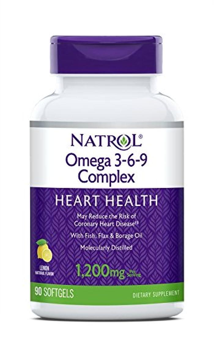 上げるつまずく少し海外直送品 Natrol (incl Laci Le Beau Teas) Omega 3-6-9 Complex, 90 Softgels