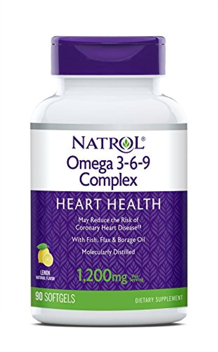 申請中病な形式海外直送品 Natrol (incl Laci Le Beau Teas) Omega 3-6-9 Complex, 90 Softgels