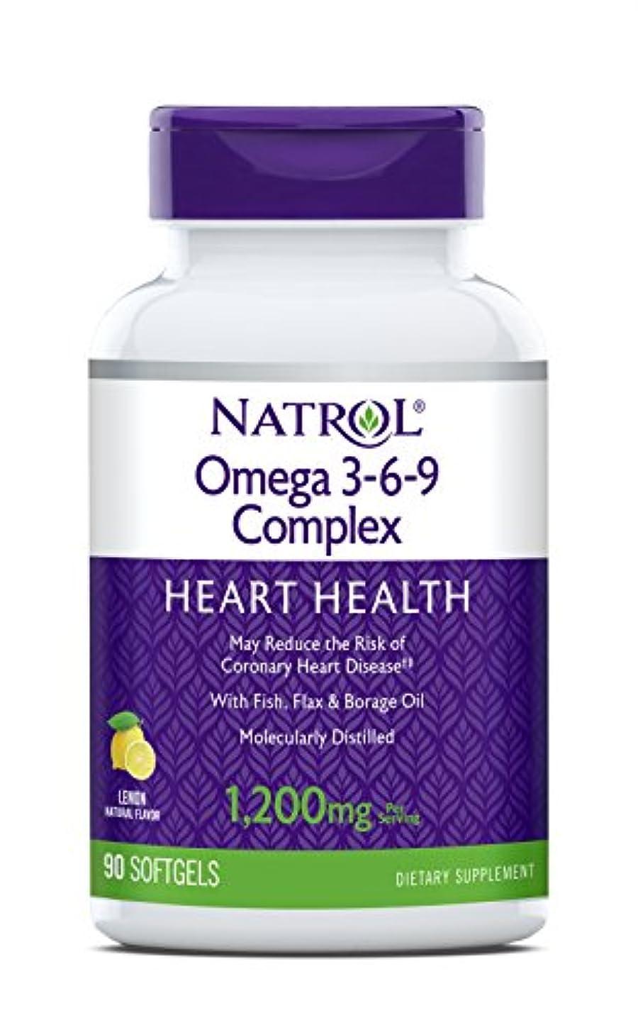 対処する元気遺伝的海外直送品 Natrol (incl Laci Le Beau Teas) Omega 3-6-9 Complex, 90 Softgels