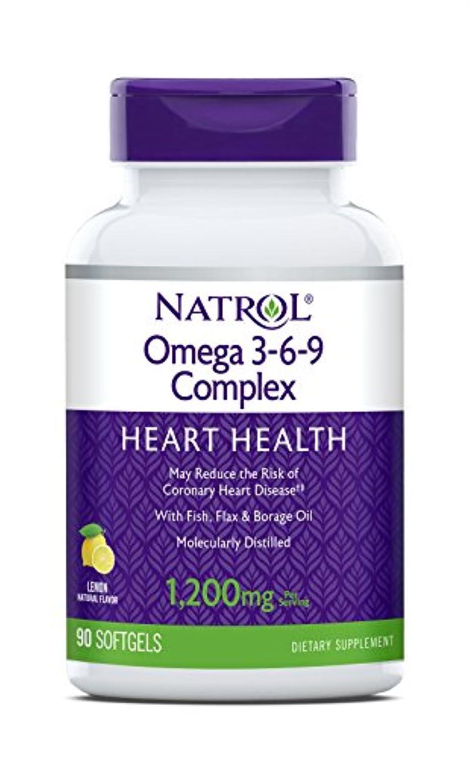 医薬黙認する上陸海外直送品 Natrol (incl Laci Le Beau Teas) Omega 3-6-9 Complex, 90 Softgels