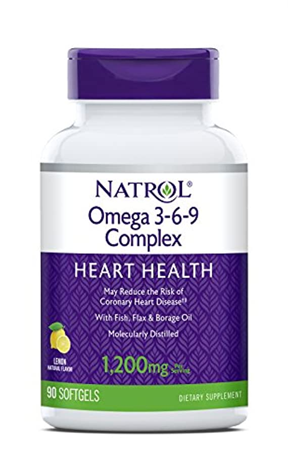 足枷タバコ発生海外直送品 Natrol (incl Laci Le Beau Teas) Omega 3-6-9 Complex, 90 Softgels