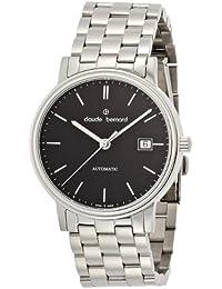 [クロードベルナール]claude bernard 腕時計 3ハンズオート ブラック文字盤 自動巻 裏蓋スケルトン 800853NIN メンズ 【正規輸入品】
