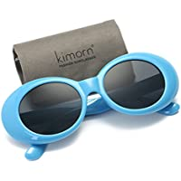 Kimorn Sunglasses Women Metal Hinges Oval Frame Clout Goggles Kurt Cobain Sun Glasses K0567